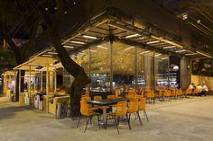 Olga Nur Restaurant. Location:  Belo Horizonte - State of Minas Gerais, Brazil; firm: Arquitetos Associados; photos: © Gabriel Castro; year: 2015