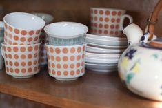 Cute retro cups. Arabia of Finland.
