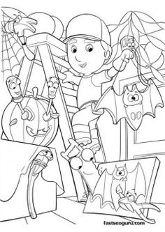 coloring handy manny printable page - Printable Coloring Pages For Kids