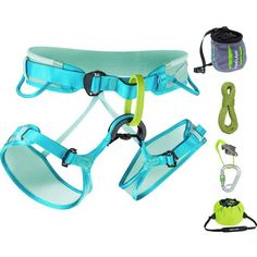 You're more than ready to abandon the bouldering area for some taller climbs. You have the skills and you took the belay courses; now all you need is the Edelrid Women's Gym Climbing Package. This package includes Edelrid's Boa DT Climbing Rope, Jayne Harness, Mega Jul Belay Device, locking carabiner, Caddy Rope Bag, and Trifid Chalk Bag so you can belay your friends, climb on lead, and hopefully get comfortable with that whole falling thing.
