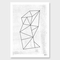 Facet Art Print by Duett Design