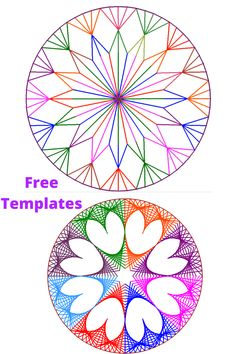 These free parabolic curve ideas templates are so versatie that you can use them as embroidery cards. These geometric art ideas are suitable for both kids and adults.