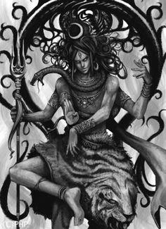 破壊と創造の神シヴァ Rudra Shiva, Shiva Shakti, Shiva Art, Hindu Art, Shiv Tandav, Mahadev Tattoo, Shiva Sketch, Shiva Tattoo Design, Lord Shiva Family