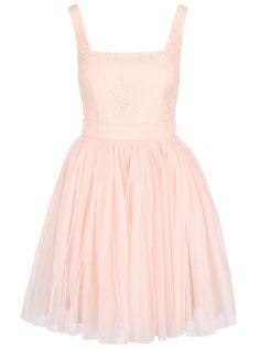 37a44ba3ef5d Světle růžové šaty s krajkovaným topem Little Mistress