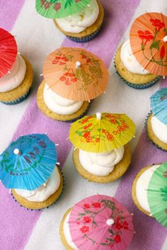 cupcakes for a summer party