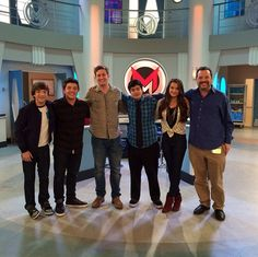 "Bradley Steven Perry With His ""Mighty Med"" Cast October 2, 2013"