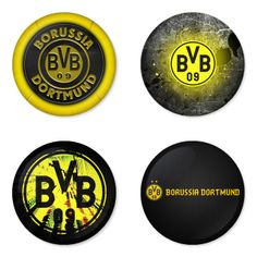 "BORUSSIA DORTMUND Football Club 1.75"" Badges Pinbacks, Mirror, Magnet, Bottle Opener Keychain http://www.amazon.com/gp/product/B00K3U2ECY"