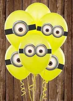Resultado de imagen para ideas para decorar fiesta de los minions globos
