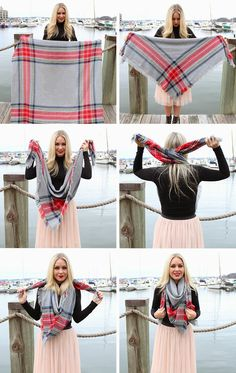 How To : Wear a Blanket Scarf | My DIY Life
