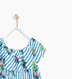 Image 2 of TOTAL LOOK STRIPED AND FLORAL PRINT TOP from Zara