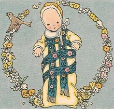 bumble button: Illustrations from a vintage French child's nursery rhyme book. Free clip art for you.