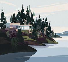ilustraciones-vectoriales-de-arquitectura-y-paisajes-con-estilo-mid-century-por-crushiform-4