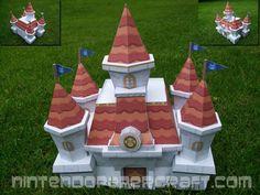 Peach's Castle from Paper Mario | Nintendo Papercraft