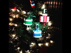 Come back december to see the finished tree! Lego Ornaments, Holiday Ornaments, Christmas Tree, Holiday Decor, December 25, Youtube, Teal Christmas Tree, Xmas Trees, Christmas Trees