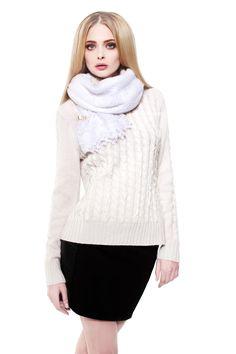 OrenSchal in weiß / OrenScarf in white