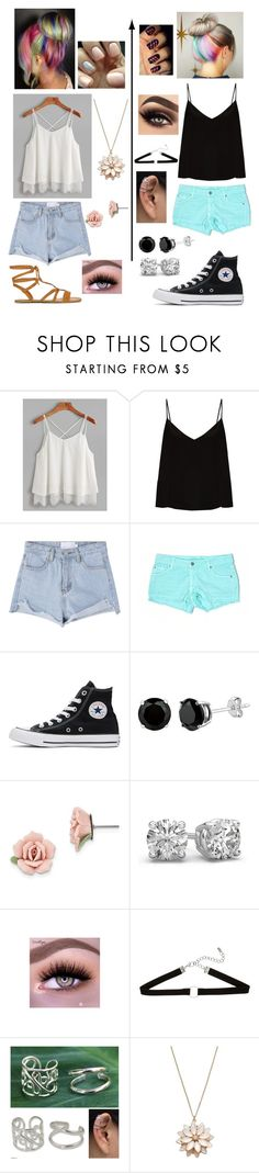 """""""Which one?"""" by mhrainbows ❤ liked on Polyvore featuring beauty, Raey, Carmar, Converse, 1928, NOVICA and LC Lauren Conrad"""