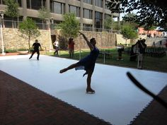 Synthetic Ice Backyard Rink. Indoor And Outdoor Ice Rink Chicago Party  Rentals