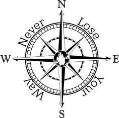 Compass rose decal wall sticker wall art nautical by TheNimsNook