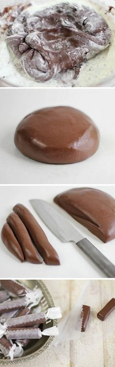 Homemade Tootsie Rolls. You can use powdered goat milk instead of regular powdered milk as a substitute.