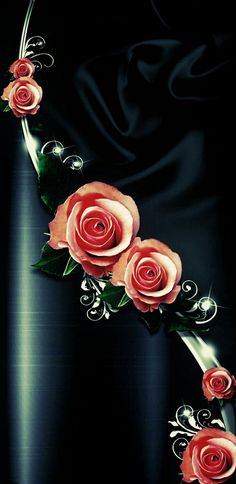 Rose Flower Wallpaper, Flowery Wallpaper, Luxury Wallpaper, Cute Girl Wallpaper, Wallpaper Backgrounds, Iphone Wallpaper, Free Happy Birthday Cards, Red And Black Wallpaper, Pretty Wallpapers