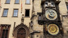 The Prague Astronomical Clock on the side of the Old Town Hall. Prague Attractions, Prague Astronomical Clock, Prague Travel, Town Hall, Old Town, Big Ben, Travel Tips, Places To Visit, Old Things