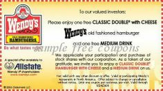 Printable Coupons: Wendys Coupons http://takecoupons.net/restaurantscoupons/item/wendys-coupons