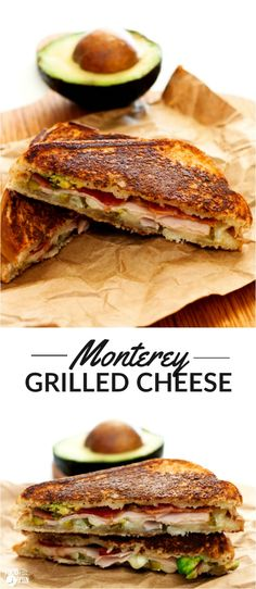 These Monterey Grilled Cheese Sandwiches are layered with Monterey Jack cheese, bacon, deli turkey, avocado, and pickled jalapenos. They're perfect for lunch or dinner and super easy to make! AD | ArtesanoBread | NationalGrilledCheeseMonth | NationalGrilledCheeseDay | Grilled Cheese Recipe | Grilled Cheese Recipe