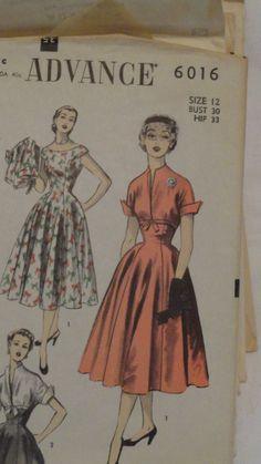 Advance Pattern 6016 Dress Size 12 | eBay