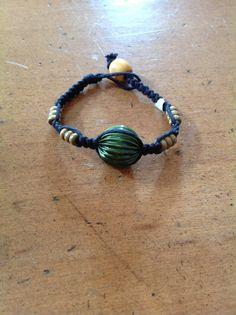 Green Ridged Hemp Bracelet B137 by xOnexLovexJewelry on Etsy