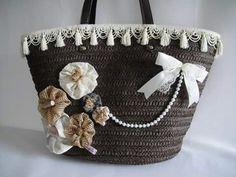 Capazo Diy Sac, Flower Bag, Boho Chic, Purse Patterns, Crochet Purses, Womens Purses, Handmade Bags, Beautiful Bags, Straw Bag