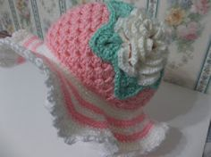 Creating Beautiful Things in Life!: Easy Crochet Spring/Easter Hats - Free Pattern