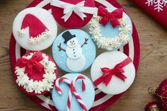 Cupcakes decoracion navidad