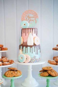 Donuts, Milk, & Cookies Birthday Party | karaspartyideas.com | Bloglovin'