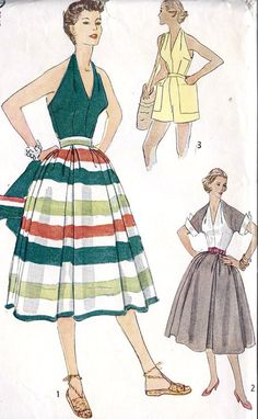 1950s Misses Halter Top Dress Shorts and Bolero by MissBettysAttic, $15.00