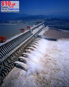 The flood discharging of the Three Gorges Dam.