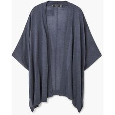 MANGO Knit Cape ($30) ❤ liked on Polyvore featuring outerwear, cape coat and knit cape