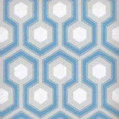 Cole & Son Hicks Hexagon Blue and Grey Wallpaper LJW668054CS