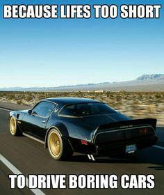 La vida es tan corta como para manejar autos aburridos
