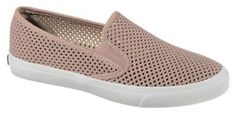 Sperry Seaside Perf Leather Loafers for Ladies - Rose Gold - 8.5M