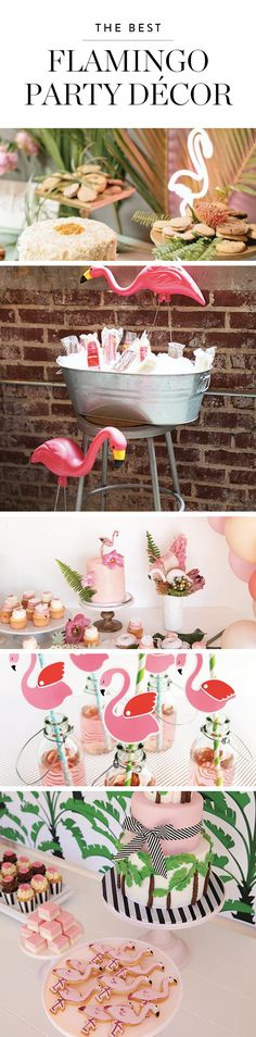 Join us in admiring these festive party decorations featuring flamingos. Here are 11 delightful ways to feature the tropical bird of the hour at your next soiree.
