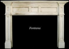 fontana mantelshoppe.com-- series of 3 panels in the center,  moulding- simple rectangles, same all over