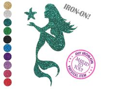 A personal favorite from my Etsy shop https://www.etsy.com/listing/548228275/diy-mermaid-iron-on-vinyl-applique-decal