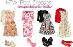 """""""HTW: Floral Dresses"""" by lookaliveerin on Polyvore"""