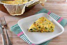 Frittata al forno con verdure, facile e veloce con video ricetta
