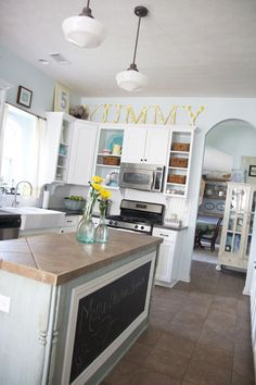 awesome kitchen renovation on a budget ... such a difference!