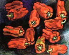 Guttuso, Renato (1912-1987) - 1974 Peppers (Christie's Milano) #TuscanyAgriturismoGiratola