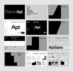 More from our recent work for architectural practice Apt 👌 - Featuring a custom typeface 'Apt Sans', designed in collaboration with Swiss… Brand Guidelines Design, Logo Guidelines, Web Design, Book Design, Graphic Design, Layout Design, Brand Guidlines, Brand Manual, Identity Design