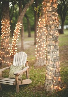 Decorate your backyard oasis with string lights for your next social gathering.