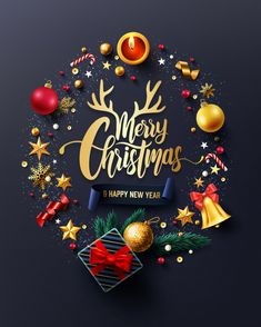 Merry Christmas And Happy New Years Card Merry Christmas Wishes Text, Merry Christmas Wallpaper, Merry Christmas Pictures, Christmas Messages, Merry Christmas And Happy New Year, Merry Xmas, Vector Christmas, Christmas Wishes Christian, Merry Christmas Quotes Family