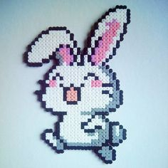 Rabbit perler beads by sara.s_snuisterijtjes
